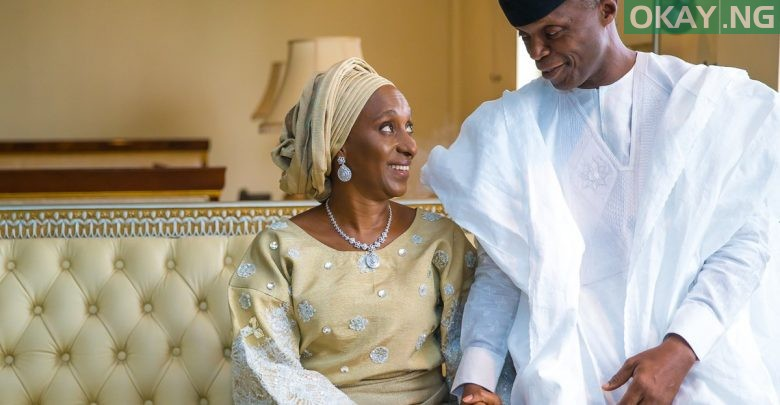 Photo of Osinbajo pens lovely message to his wife after taking oath of office