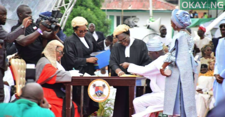Photo of Sanwo-Olu sworn-in as Lagos state Governor