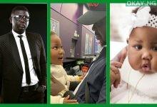 Seyi Law and his daughter, Tiwaloluwa