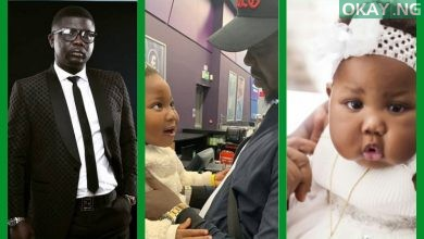 Seyi Law and his daughter, Tiwaloluwa