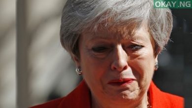 Theresa May Speaks Tears Okay ng 1 390x220 - Moment Theresa May broke down in tears as she announce her resignation [Photos]