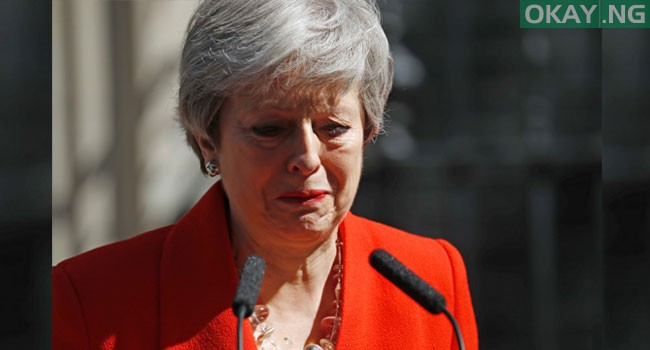 Theresa May Speaks Tears Okay ng 4 - Moment Theresa May broke down in tears as she announce her resignation [Photos]