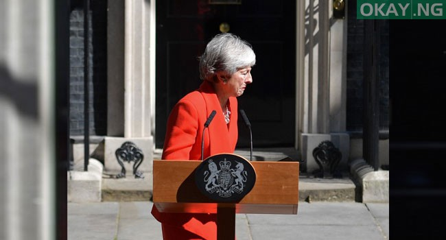 Theresa May Speaks Tears Okay ng 5 - Moment Theresa May broke down in tears as she announce her resignation [Photos]
