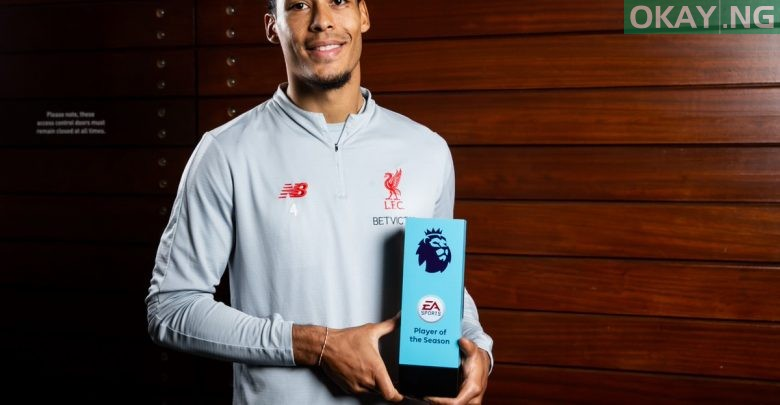 Photo of Virgil van Dijk is Premier League's Player of the Season for 2018-19