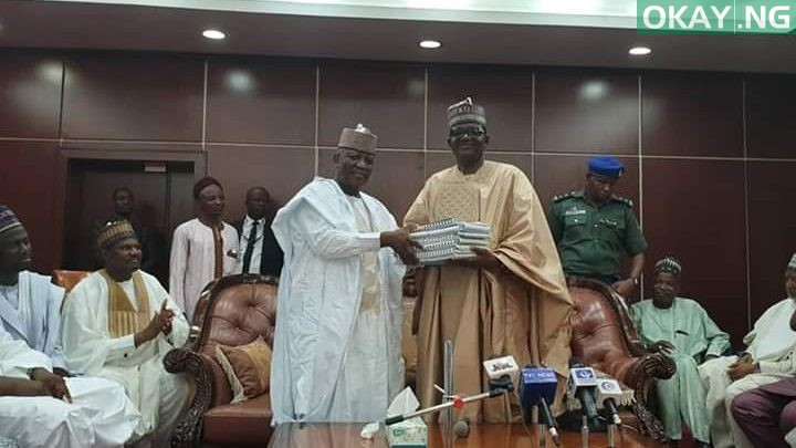 Photo of Outgoing Yari presents hand over documents to incoming Muhammad in Zamfara [Photos]