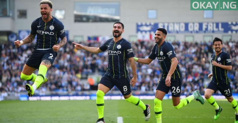 Photo of Manchester City clinch EPL title after defeating Brighton & Hove Albion 4-1 [Video]