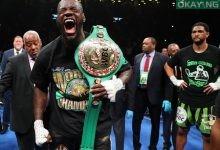 wilder screams after retaining title Okay ng 220x150 - Wilder knocks out Breazeale in first round to keep WBC heavyweight title