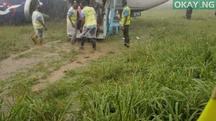 Photo of Air Peace aircraft carrying 87 passengers overshoots runway at Port Harcourt airport