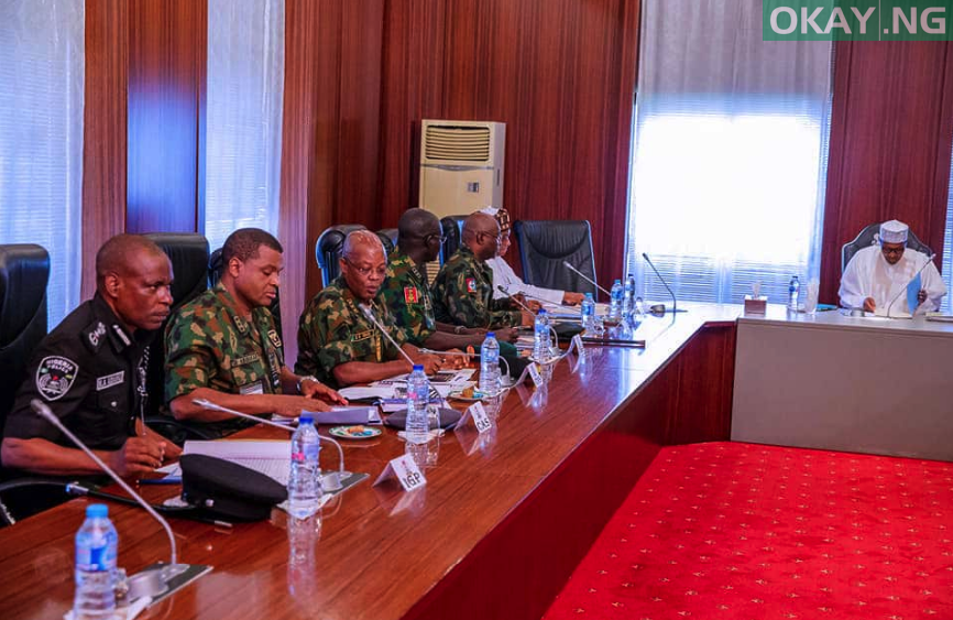 Buhari security chief okay ng - Buhari meets with security chiefs in Abuja
