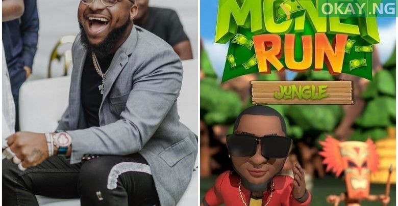 Photo of Davido to dash out money as he launches own mobile game, '30BG Money Run'