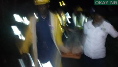 Fagba Okay ng 1 390x220 - Lagos: Three storey building collapses in Fagba [Photos]