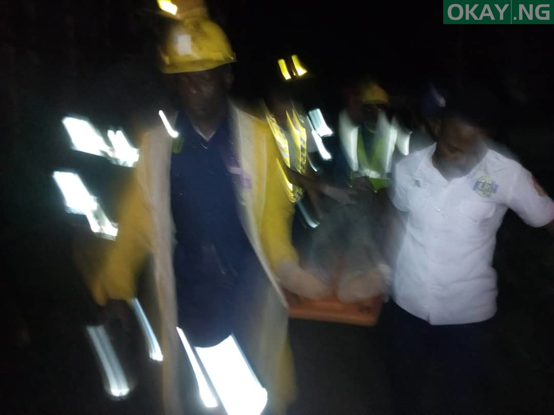 Fagba Okay ng 1 - Lagos: Three storey building collapses in Fagba [Photos]