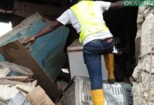 Oshodi building collapse Okay ng 1 220x150 - Lagos: Building collapses in Oshodi [See Photos]