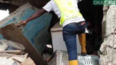 Oshodi building collapse Okay ng 1 390x220 - Lagos: Building collapses in Oshodi [See Photos]