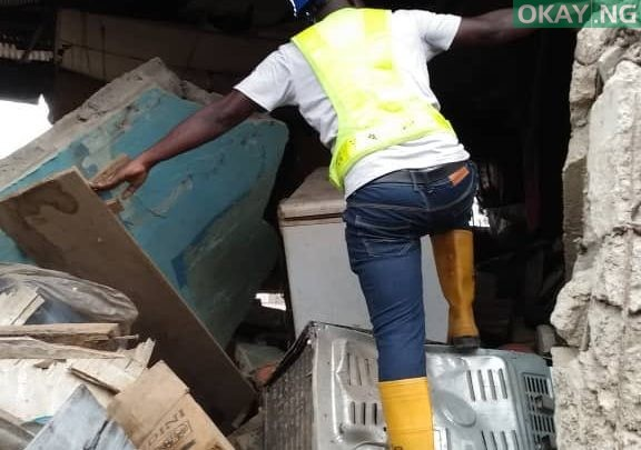 Photo of Lagos: Building collapses in Oshodi [See Photos]