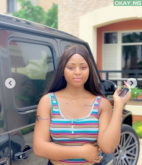 Regina Daniels 1 - Regina Daniels shows off her newly Tattooed Body (See Photos)