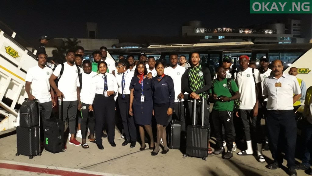 Super Eagles Egypt okay ng 2 - Nigeria's Super Eagles land in Egypt ahead of 2019 Nations Cup [Photos]