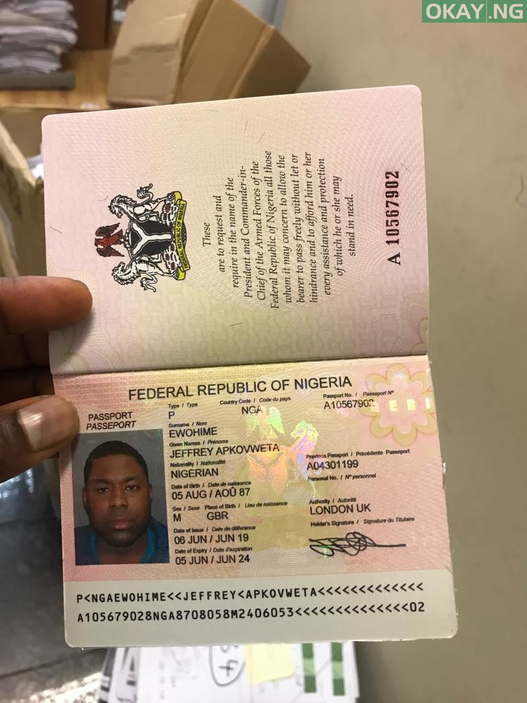 his passport 1 - How Man destroyed several vehicles at Nigerian high commission in London (Watch Video)
