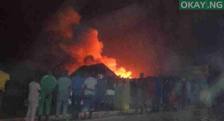 Photo of Fire guts 200+ shops in Makurdi modern market
