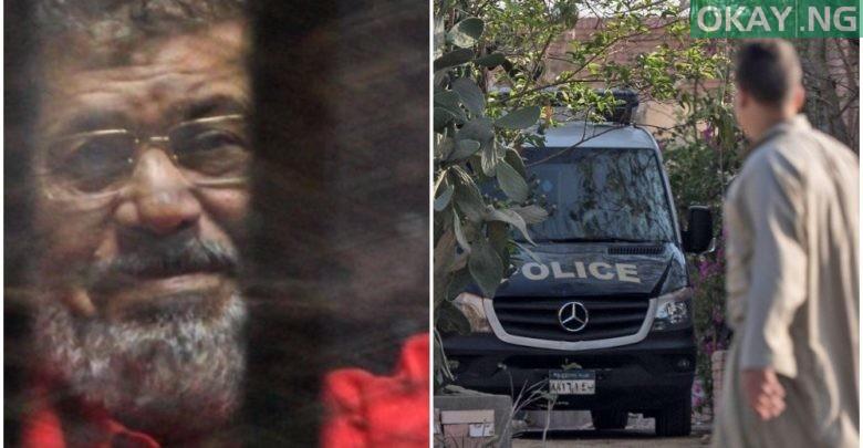 Photo of Egypt's former president, Mohamed Morsi, buried
