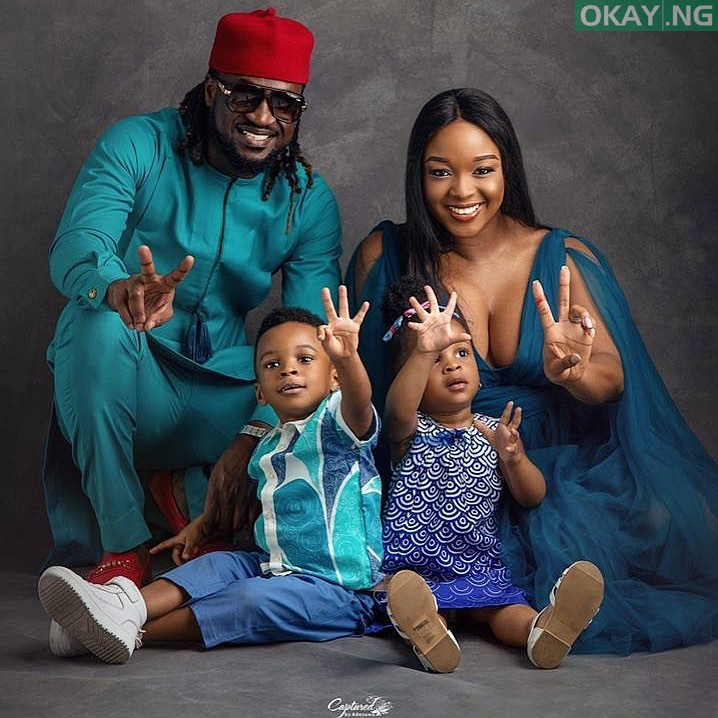 Rudeboy, wife and twins, Nadia and Nathan