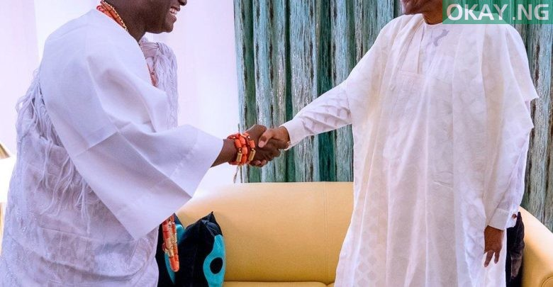 Photo of Buhari receives Ooni of Ife in State House [Photos]