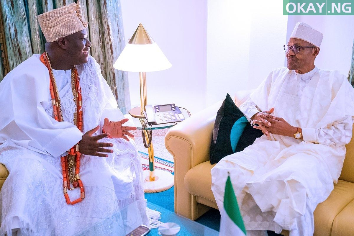 Buhari Ooni of Ife Okay ng 2 - Buhari receives Ooni of Ife in State House [Photos]