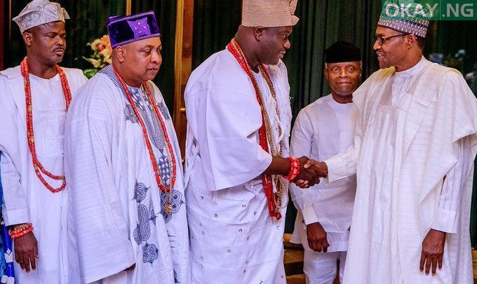 Photo of Buhari meets with south-west Obas in Aso Rock [Photos]