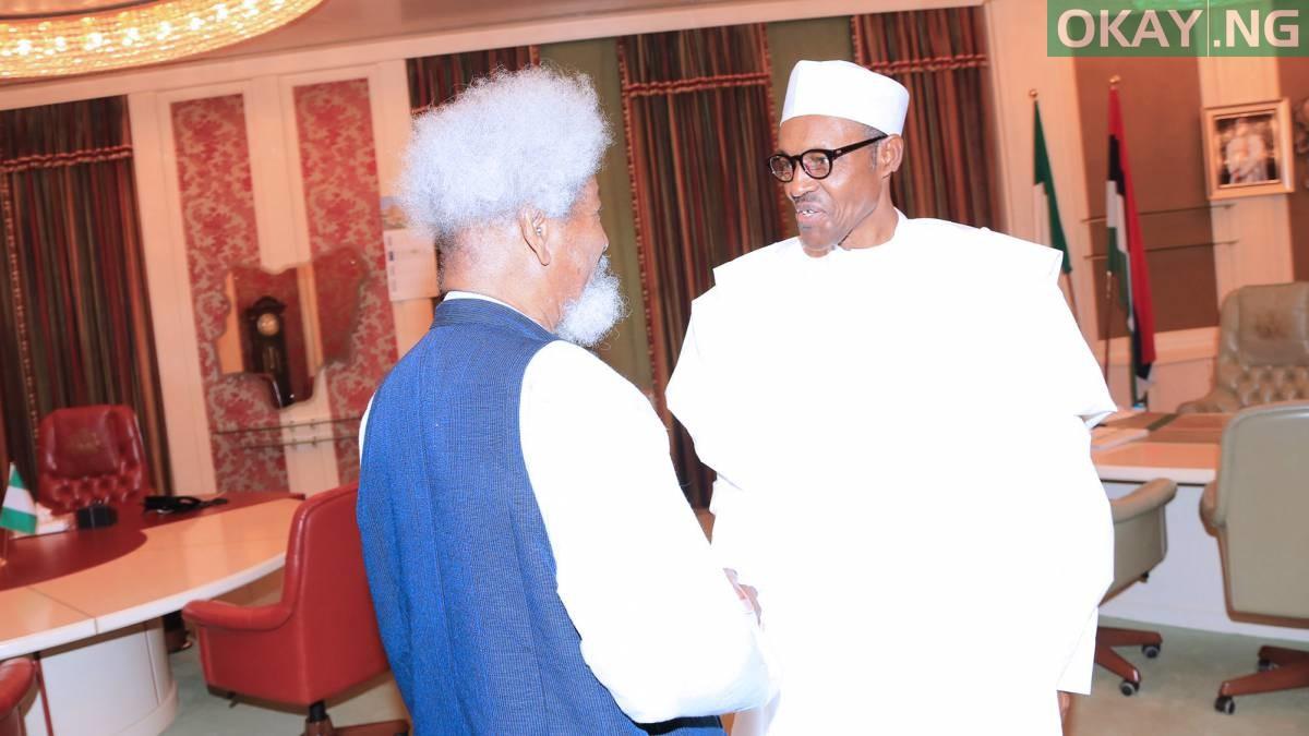 Buhari Soyinka Okay ng - Buhari hails Wole Soyinka as he turns 85