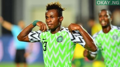 Chukwueze NGA Okay ng 390x220 - Nigeria beat South Africa 2-1 to qualify for AFCON 2019 semi-finals