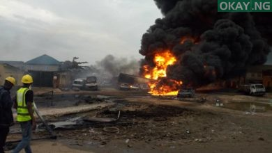 Ijegun okay ng 1 390x220 - Pipeline explosion kills two, 20 cars gutted in Ijegun, Lagos [Photos]