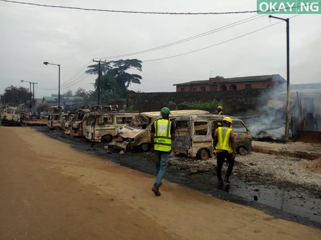 Ijegun okay ng 4 - Pipeline explosion kills two, 20 cars gutted in Ijegun, Lagos [Photos]