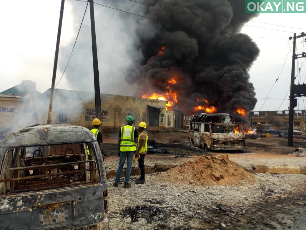 Ijegun okay ng 5 - Pipeline explosion kills two, 20 cars gutted in Ijegun, Lagos [Photos]