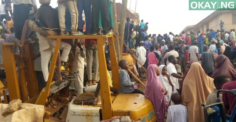 Photo of Three-storey building collapses in Jos, many trapped