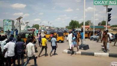 Keke Damaturu 1 390x220 - Tricycle riders, policemen clash in Damaturu [Photos]