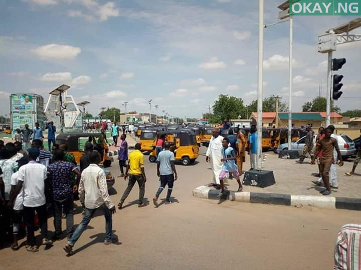 Photo of Tricycle riders, policemen clash in Damaturu [Photos]