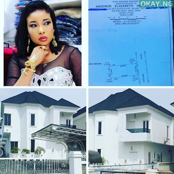 Lizzy Anjorin mansion Okay ng1 - Lizzy Anjorin shares pictures of newly acquired mansion in Lagos