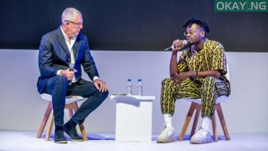YouTube's Global Head of Music, Lyor Cohen and Mr Eazi