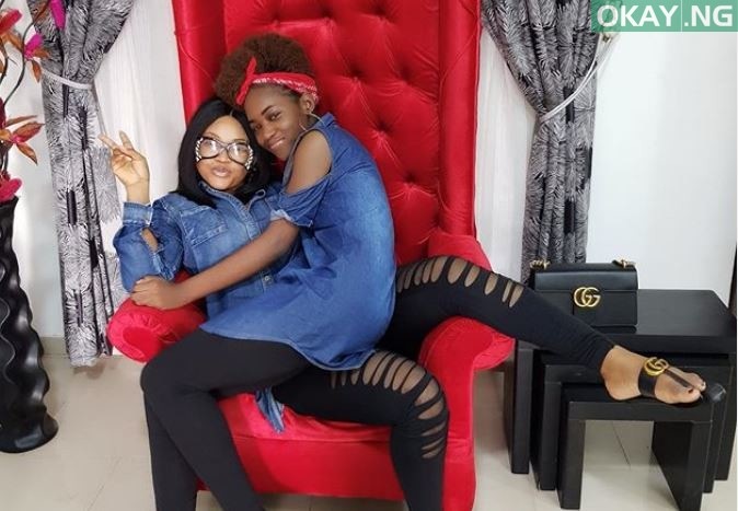 Mercy Aigbe and her daughter, Michelle