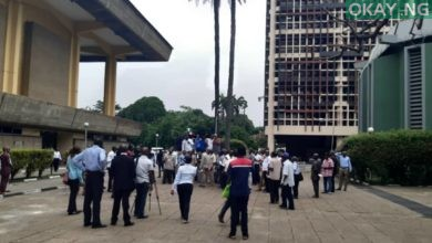 Members of NASU, SSANU protesting