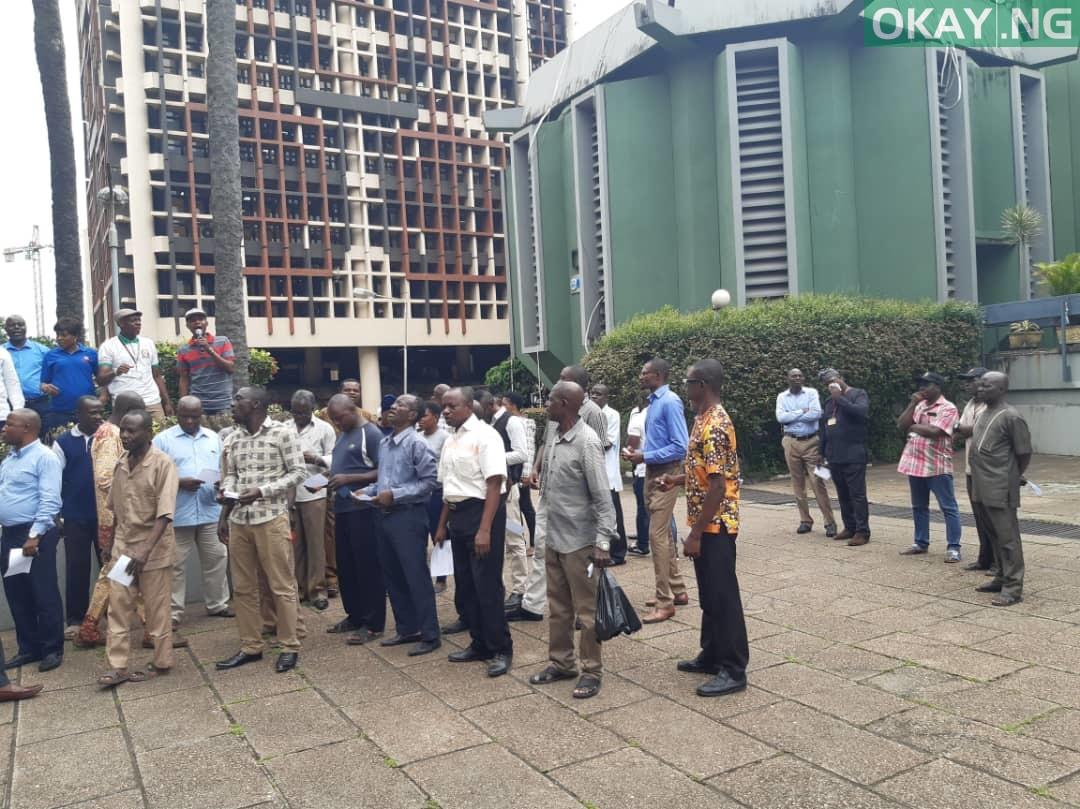 Members of NASU, SSANU protesting