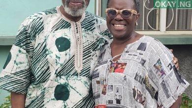 Olu Jacobs and wife, Joke Silva