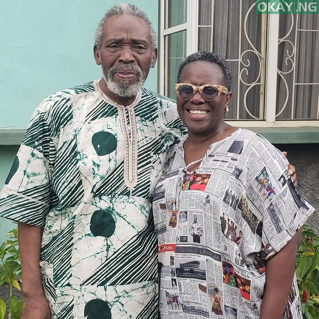 Olu Jacobs and wife, Joke Silva