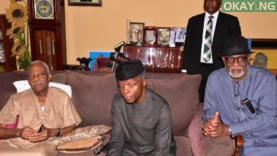 Osinbajo PA Fasoranti Okay ng 1 390x220 - Osinbajo pays condolence visit to Afenifere leader, PA Fasoranti [Photos]