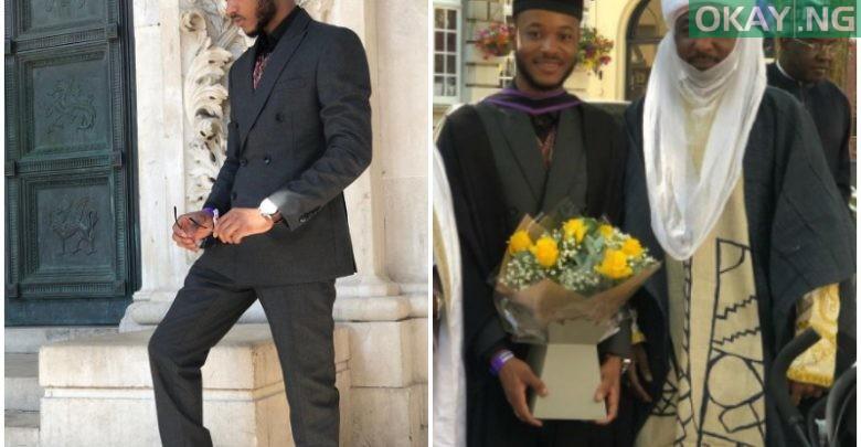 Photo of Emir Sanusi's son, Ashraf graduates from University of Manchester, UK [Photos]