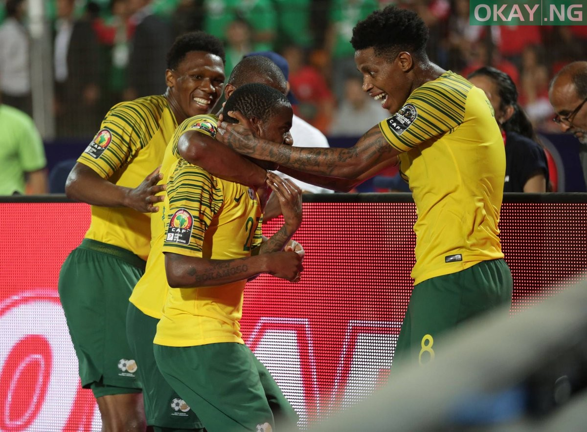 South Africa Okay ng - AFCON 2019: South Africa beat Egypt to qualify for quarter finals