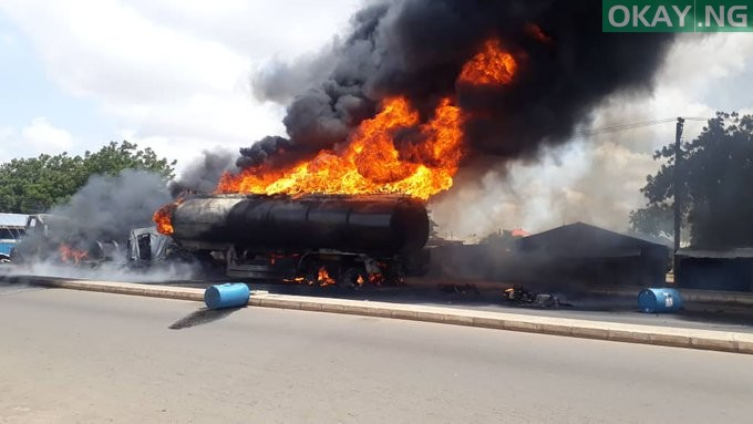 Photo of Petrol Tanker bursts into flames in Gombe [Photos, Video]