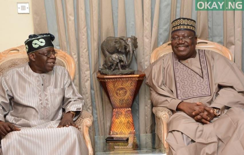 Tinubu and Lawan Okay ng 2 - Tinubu hosts Lawan at his residence in Lagos [Pictures]