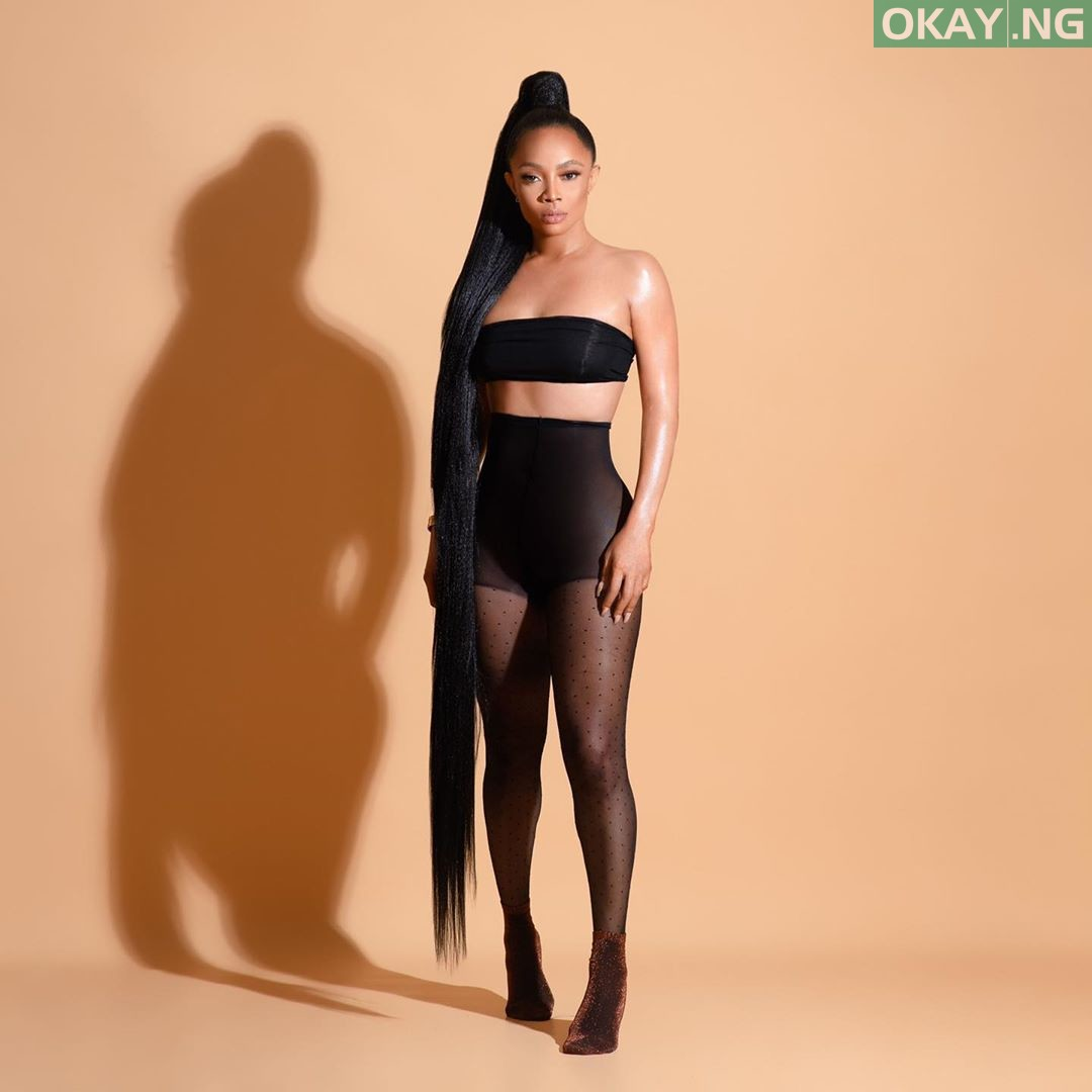 Toke 1 Okay ng - Toke Makinwa shares new photos showing off her bum