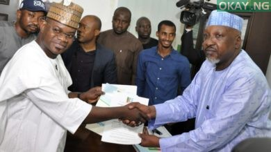 Yahaya Bello APC Okay ng 1 390x220 - Yahaya Bello obtains APC nomination form for Kogi guber [Photos]